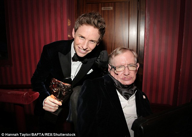 Heartache: Eddie lamented the loss of the physicist Stephen Hawking (pictured together in February 2015), four years after winning an Oscar for his portrayal in the biopic The Theory Of Everything