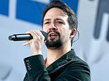 "FILE - In this March 24, 2018 file photo, Lin-Manuel Miranda performs ""Found Tonight"" during the ""March for Our Lives"" rally in support of gun control in Washington.  Miranda thought he had a migraine. But the Broadway star says it's really shingles.  Miranda tweeted on Thursday, April 6, the diagnosis was caught early, but he's been quarantined from his 8-week-old son.   (AP Photo/Andrew Harnik, File)"