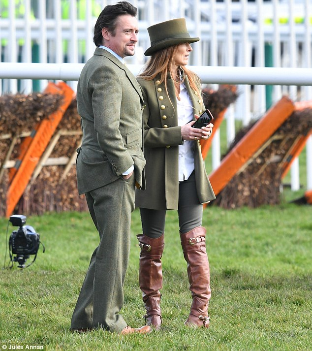 Couples that dress together, stay together: Mind complemented her husband in her olive green trousers, blazer and matching hat