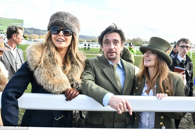 Good fun: The duo rubbed shoulders with the great and the good of the showbiz world includingCarol Vorderman