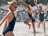 Naomi Watts enjoys another day on the beach with friends in Tulum, Mexico