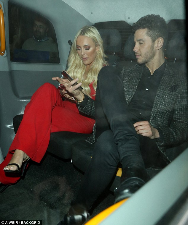 Hot stuff!The 24-year-old stunner, who was left heartbroken after a fling with co-star Dan Edgar, looked sensational in a deeply plunging red jumpsuit while Scott, who split from Kady McDermott last year, looked slick in a checked suit jacket