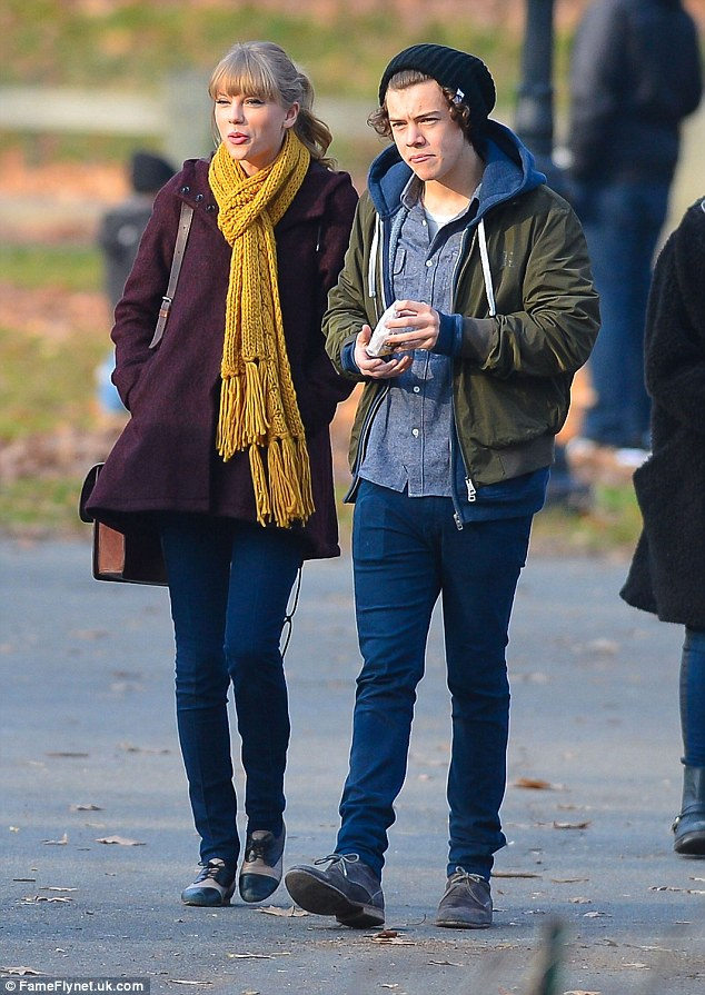 Former flames:Harry and Taylor enjoyed a brief romance that goes all the way back to October 2012 (pictured together in New York City, December 2012)