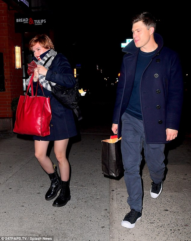 Going home: The lovebirds were leaving a Saturday Night Live after party held at the restaurant Dos Caminos