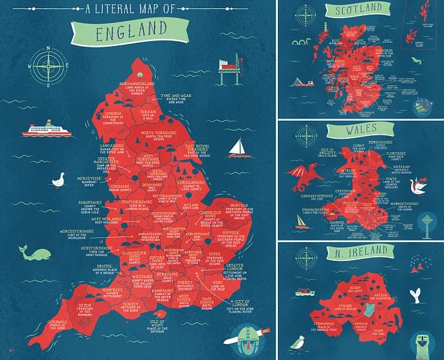 Fascinating maps reveal the literal translation of every county in the UK