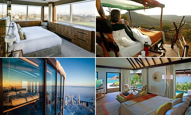 A BED with a view! The world's best hotel panoramas that don't require you to move a