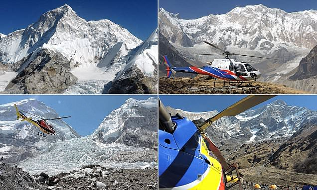 Photos captured from a helicopter reveal the world's highest 8,000m peaks in all their