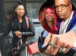 Sharina Hudson, 32, was spotted out in New York City on Saturday as she went to collecther car from a parking garage in the Theatre District