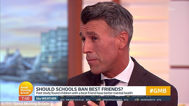 Psychologist Dr Mark Rackley said having a best friend at a young age teaches children how to build relationships