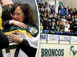 Thousands of people showed up atthe Elgar Petersen Arena in Humboldt on Sunday to pay tribute to the victims of the tragic Broncos junior hockey team bus crash
