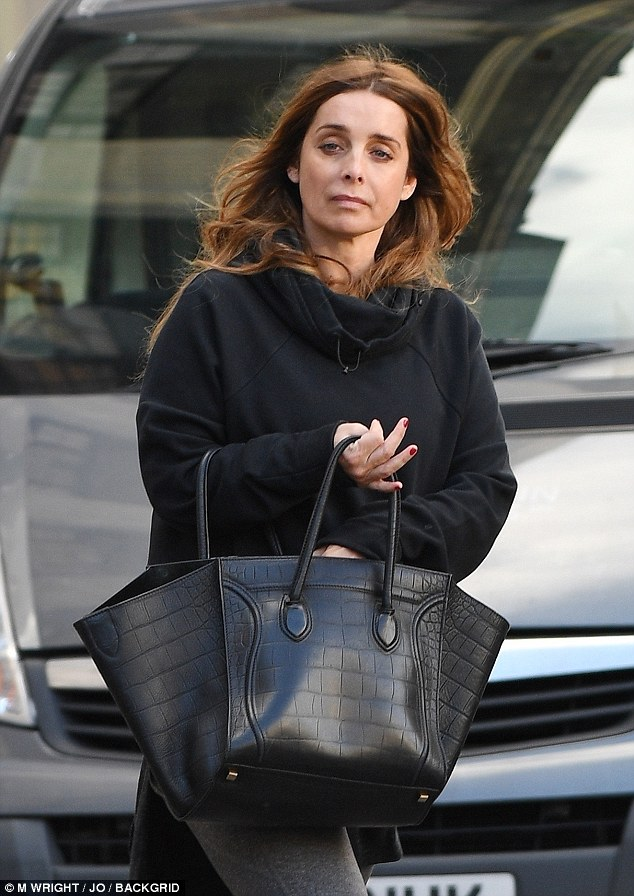 Reflective: The TV presenter looked deep in thought as she left the plush store, an outing that comes just days after she confirmed she would be supporting Britney Spears at Brighton Pride