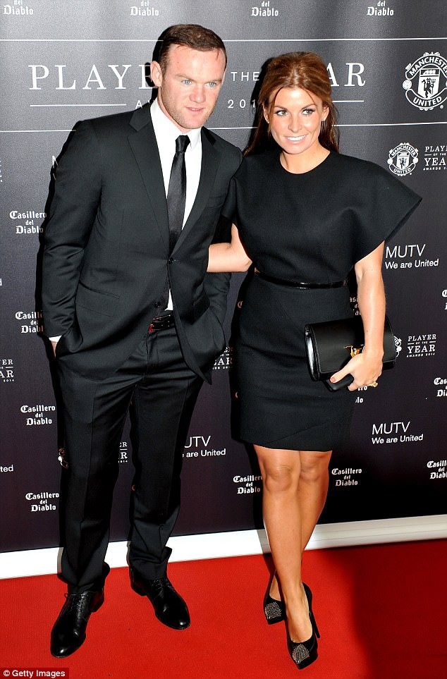 New addition: Coleen and Wayne first announced the news on her Twitter account on Thursday (pictured together in May 2014 at Old Trafford)