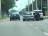 Police are still searching for a vehicle involved in an aggravated battery incident that occurred Sunday in Sarasota, Florida