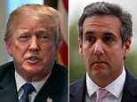 Trump called Monday's raid ordered by federal prosecutors on his personal attorney Michael Cohen's hotel  room and offices 'an attack on our country and what we all stand for' – and then tweeted twice about it on Tuesday morning
