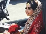 Tragic:Sameha Mahmood, pictured above on her wedding day, is thought to have tried to stop the car from rolling back after realising the brake was left on when she parked outside her parents house in Buckinghamshire two days before Christmas