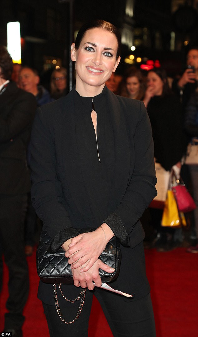 Paying tribute: Kirsty, 42, opted for a slick black look. The TV presenter  took part in the 2015 series of the BBC dancing series, finishing 11th in the sixth week of the show