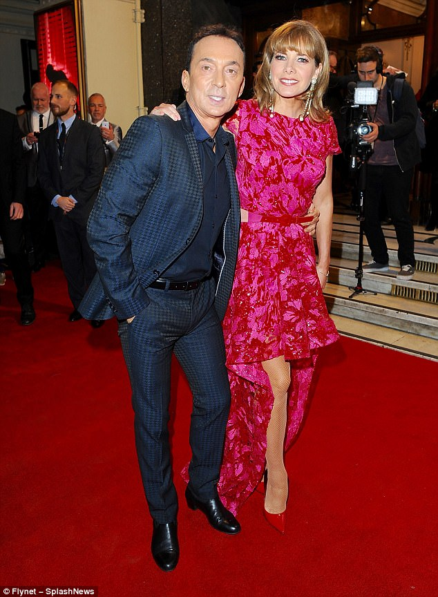 Side by side: The dancer joined Strictly Come Dancing co-host Bruno Tonioli at the event