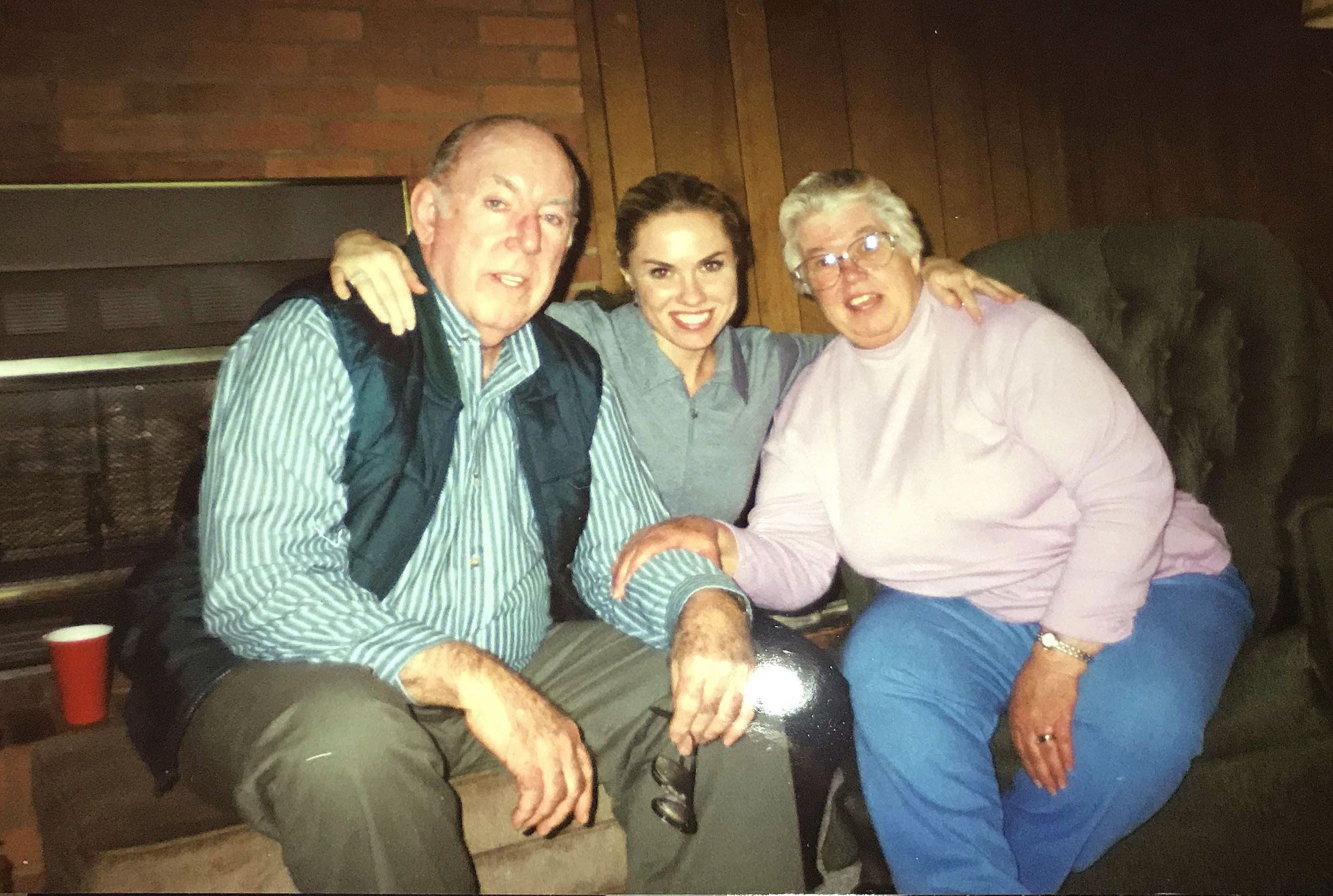 Teresa Barnes with her aunt, Lucy Leggett, and her husband. Legget also fell victim to IPF.
