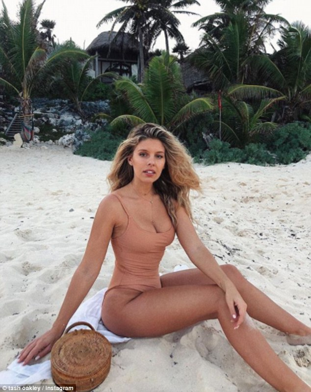 Beach babe: Her Coachella trip comes just days after she soaked up the sun in Mexico