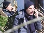 Spotted solo: Matt Lauer enjoyed the spring air by himself on Wednesday in the Hamptons, pictured above chatting on the phone while enjoying the sun