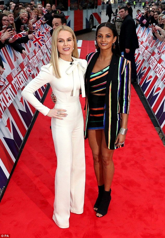 Friendly: Amanda and fellow BGT judge Alesha Dixon have reportedly been a shoulder for Lisa Armstrong to cry on through her during her split from husband and BGT host Ant McPartlin