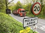 Residents in Melbury Abbas are outraged as heavy goods vehicles are driving past their homes