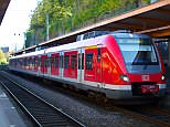 A man wrenched the five-year-old son of a stranger from his mother's arms before leaping with him beneath the wheels of an incoming train at Wuppertal station in western Germany