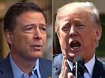 President Donald trump declared all-out war Friday on former FBI director James Comey, calling him a 'slime ball' and saying he shoud be prosecuted for leaking information to the media