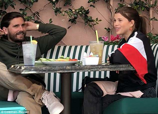 Back to reality: Scott and Sofia enjoyed a cozy lunch at the Beverly Hills hotel on Wednesday