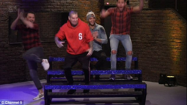 Good work! The boys had celebrated when they took an early lead, but were soon defeated in two challenges out of three
