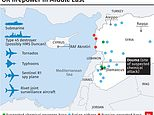 The Royal Air Force used four Tornado GR4s launched from RAF Akrotiri on Cyprus to attack a base 15 miles west of Homs