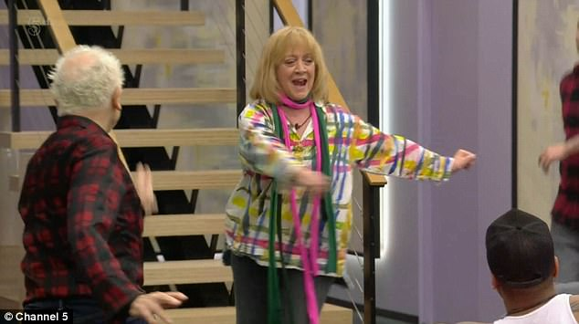 Having a ball: Wayne also taught the housemates a few dance moves