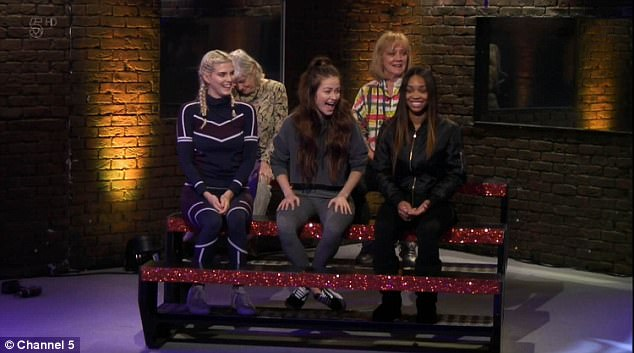 Champions:The girls were forced to decide whether John or Daniel became the next evicted, after reigning victorious in the men vs women challenge (above)