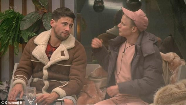 Controversial:Talking about the comment outside, Shane (R) confessed his shock, while Love Island's Jonny Mitchell acknowledged it was an 'age' thing