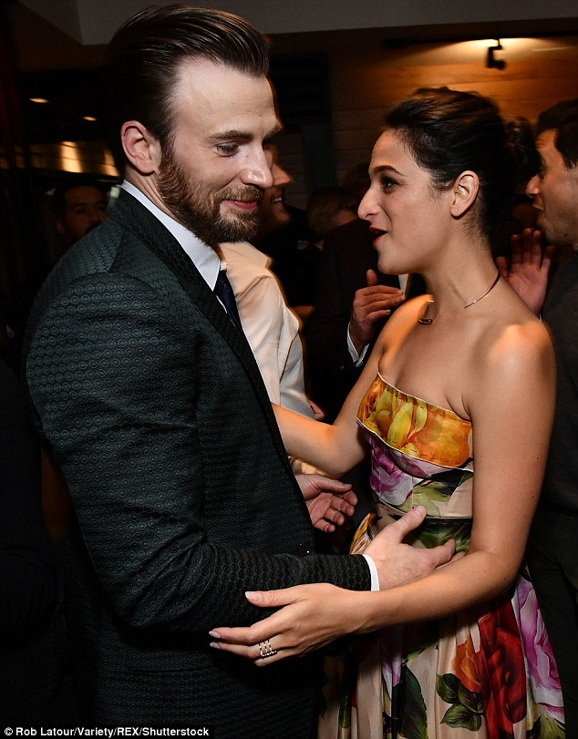 It was love:The Avengers: Infinity War star first started dating Slate, 35, in May 2016
