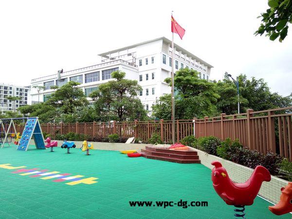 坪山新区幼儿园木塑栏杆