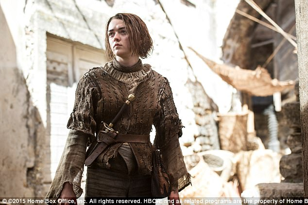 Rise to fame: Maisie shot to fame in 2011 as the feisty Arya Stark in the hit HBO series, a role she will reprise for the show's final season, due to air in April 2019