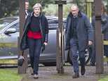 Theresa May stepped back after a tumultuous 24 hours and was seen making her regular Sunday visit to church in Maidenhead with husband Philip