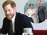 Prince Harry and Prime Minister Theresa May attending the Commonwealth Youth Forum at the Queen Elizabeth II Conference Centre, London. PRESS ASSOCIATION Photo. Picture date: Monday October 16, 2017. See PA story ROYAL Harry. Photo credit should read: Simon Dawson/PA Wire