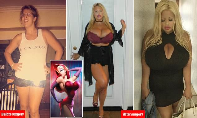 Woman spends $50K on plastic surgery to look like Jessica Rabbit