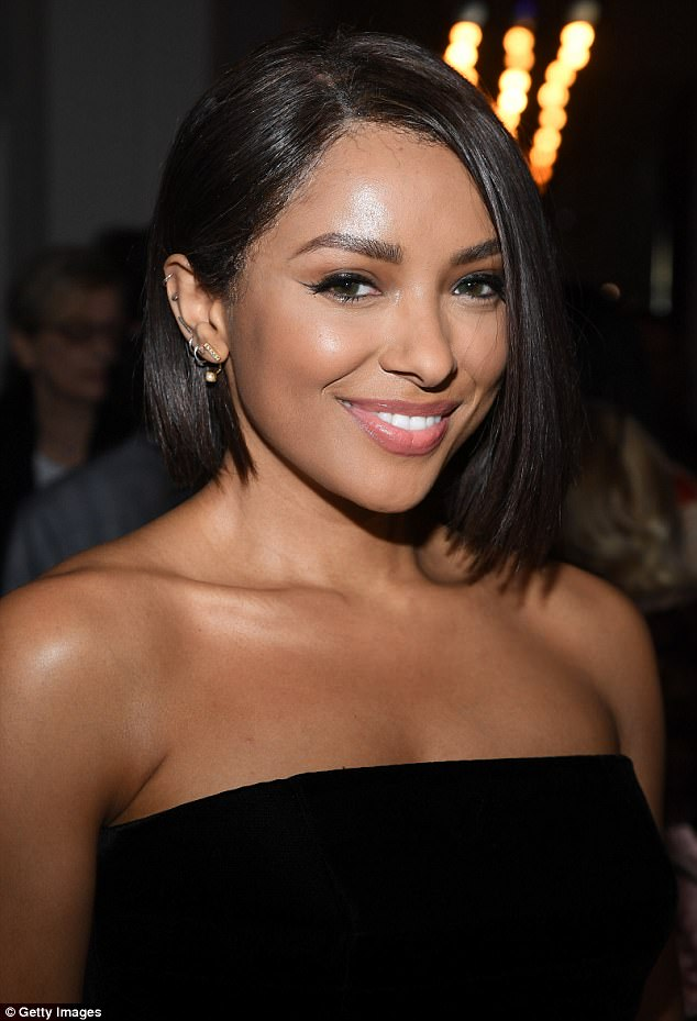 Radiant: Katerina displayed her glowing complexion as she posed for a close-up at the bash