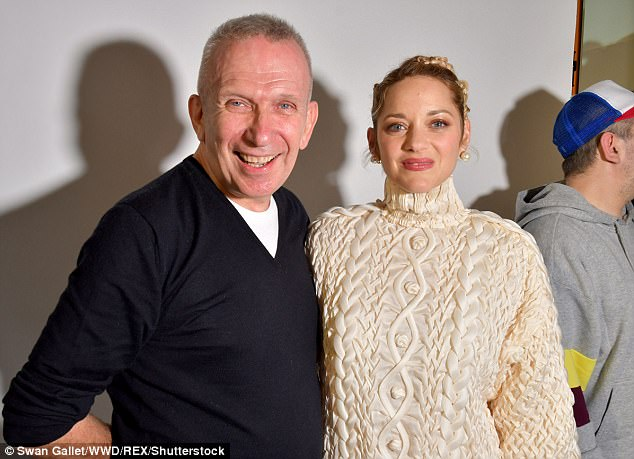 Say cheese! She later posed with man of the hour, Jean-Paul Gaultier himself