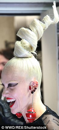 Hair raising! Bold and brightly coloured hair-do's were a trend on the catwalk