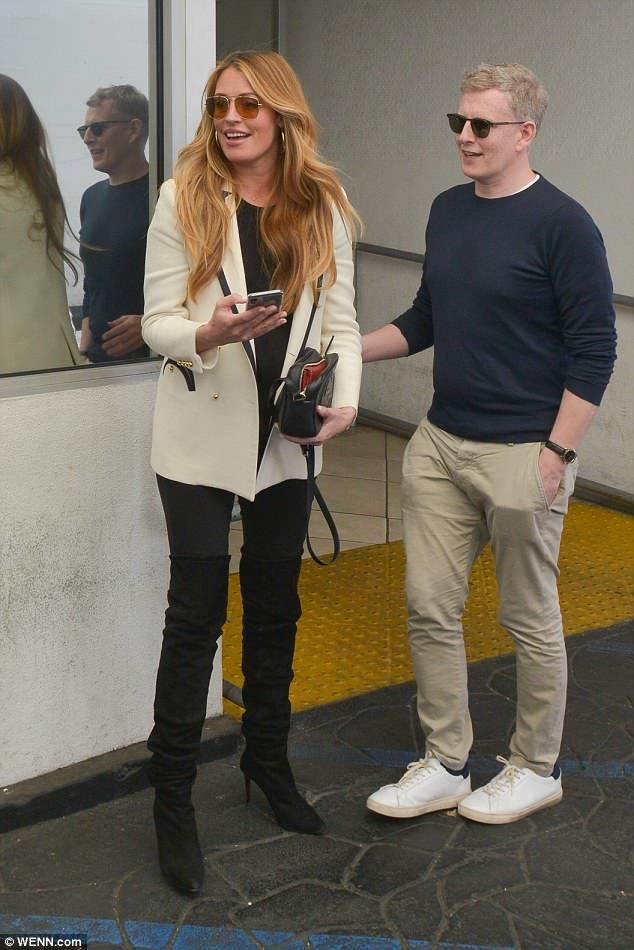 Getting ready for baby:Cat Deeley kept her blossoming baby bump under wraps as she enjoyed a cosy lunch date with her husband in Beverly Hills on Wednesday