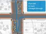A new P-turn road rule has been introduced, aiming to improve traffic flow and reduce congestion (pictured is the P-turn for turning right onto Johnston St)