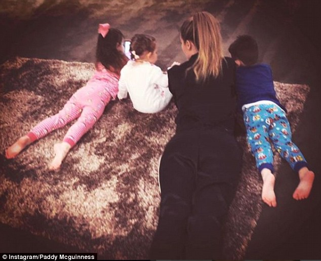 Family: The couple have moved past the drama of recent weeks, with Paddy sharing a sweet photo of her with their three children to mark Mother's Day