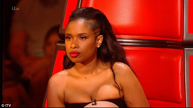 Stunned: Jennifer Hudson's vote was one of no contest when it came to selecting her favourite from three stars of her team