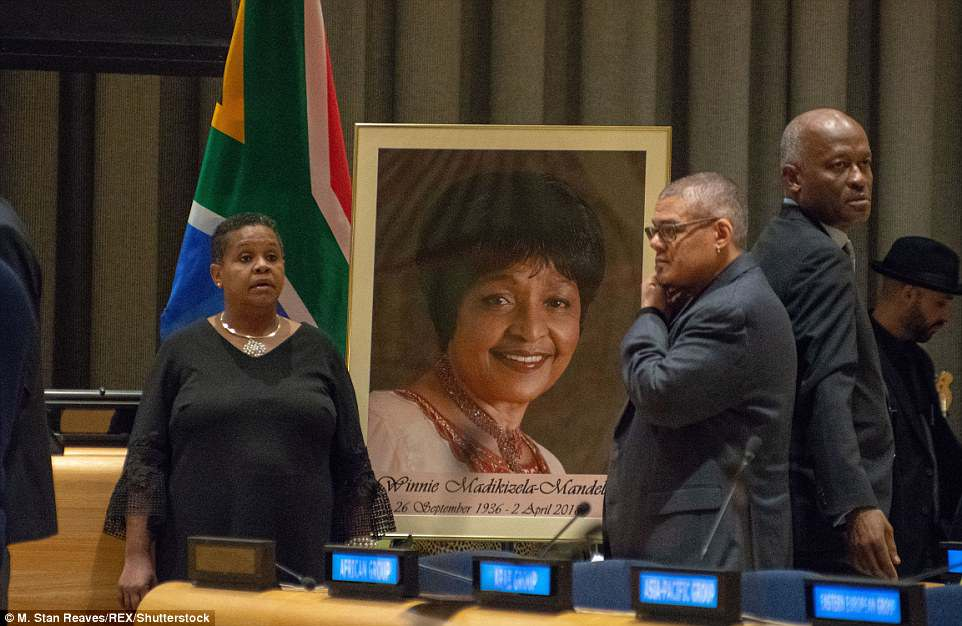 South Africa's UN mission hosted a tribute to Winnie Mandela at a memorial service on Friday with diplomats, anti-apartheid activists and friends