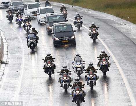 Winnie Mandela funeral cortege