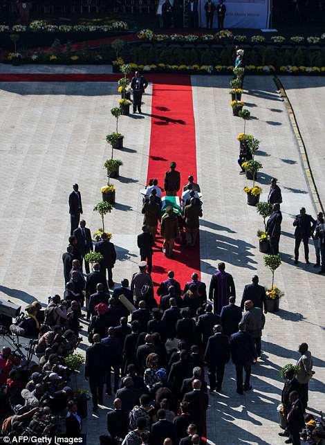 Funeral cortege of Winnie Mndela